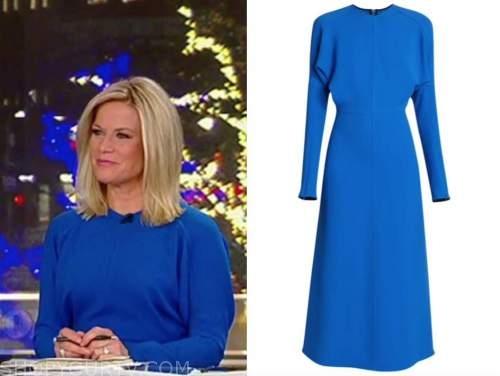 martha maccallum, fox news, blue midi dress, election coverage