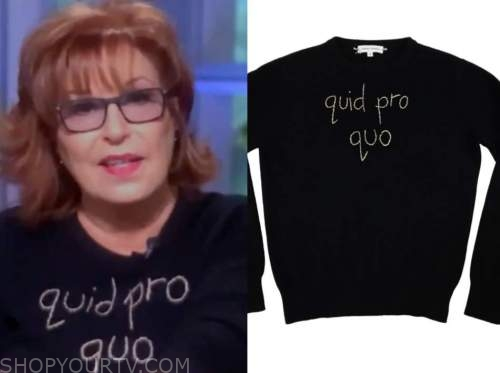 joy behar, black embroidered sweater, the view