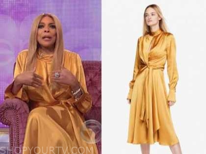 wendy williams, the wendy williams show, yellow satin dress