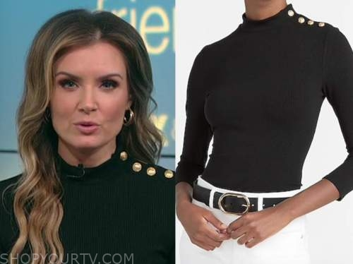jillian mele, fox and friends, black button turtleneck