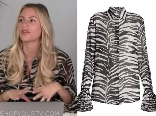 morgan stewart, zebra print blouse, e! news, daily pop