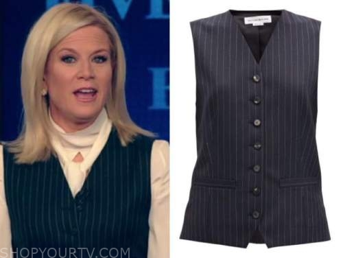 martha maccallum, the five, pinstripe vest