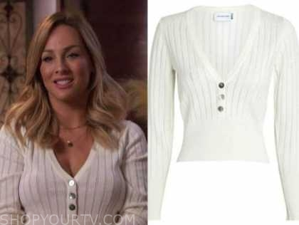 clare crawley, the bachelorette, ivory ribbed knit top