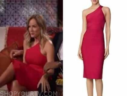 clare crawley, the bachelorette, red one-shoulder bandage dress