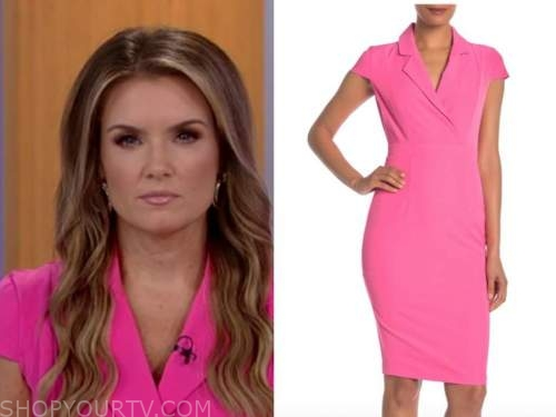 jillian mele, fox and friends, hot pink dress