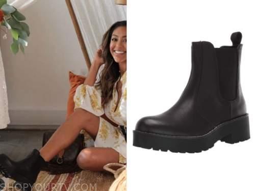 tayshia adams, the bachelorette, black boots
