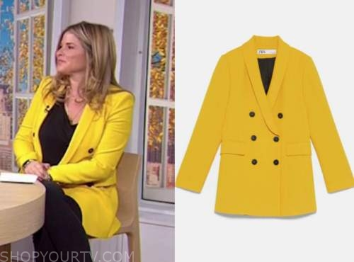 the today show, jenna bush hager, yellow double breasted blazer