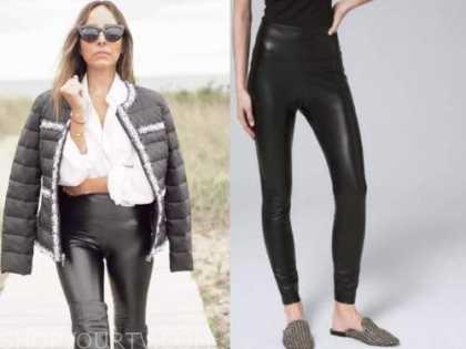 lilliana vazquez, black leather leggings,