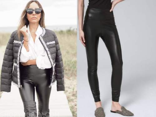 lilliana vazquez, black leather leggings,