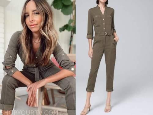 lilliana vazquez, olive green utility jumpsuit