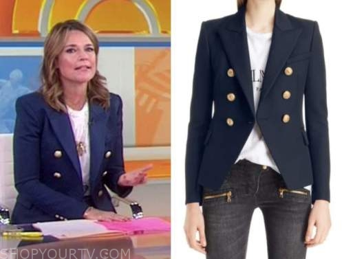 savannah guthrie, the today show, navy blue double breasted blazer