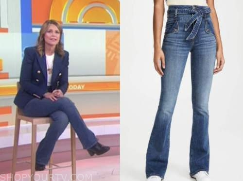 savannah guthrie, the today show, tie waist jeans