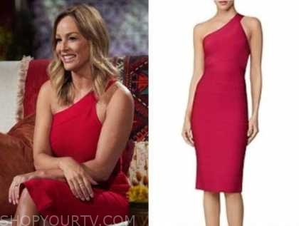 clare crawley, the bachelorette, pink bandage one-shoulder dress