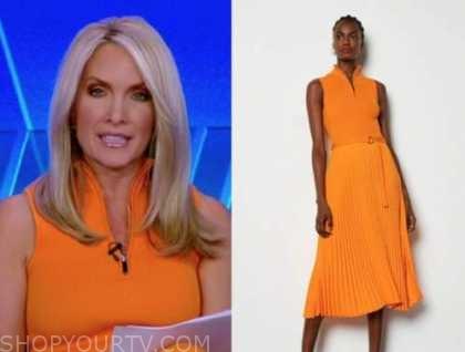 dana perino, the five, orange knit dress