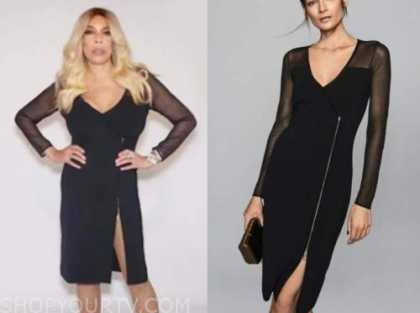 wendy williams, the wendy williams show, black zip-front dress