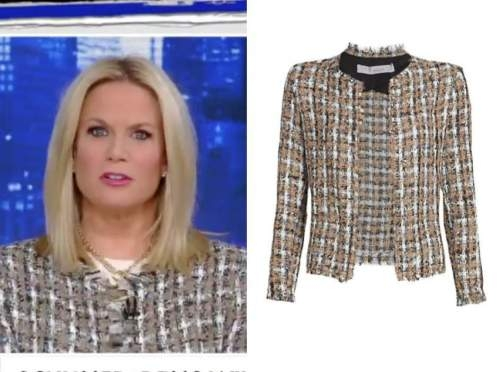 martha maccallum, the story, check tweed jacket