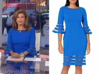 hoda kotb, the today show, blue bell sleeve dress