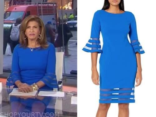 hoda kotb, the today show, blue bell sleeve dress
