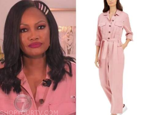 garcelle beauvais, pink jumpsuit, the real