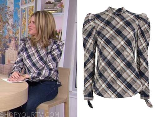 jenna bush hager, plaid top, the today show