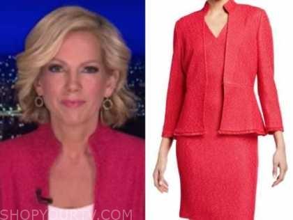 fox news at night, shannon bream, pink knit jacket
