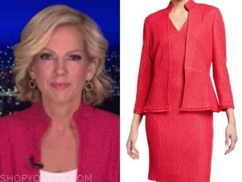 fox news at night, shannon bream, pink knit jacket