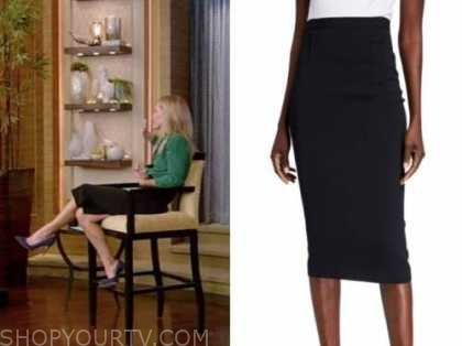 live with kelly and ryan, kelly ripa, black pencil skirt