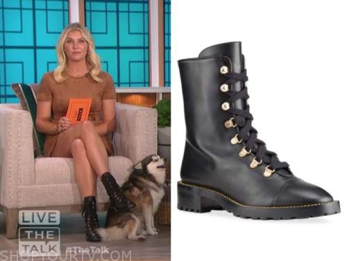 amanda kloots, black combat boots, the talk