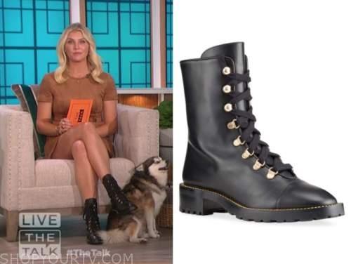 amanda kloots, black combat boots, the talk