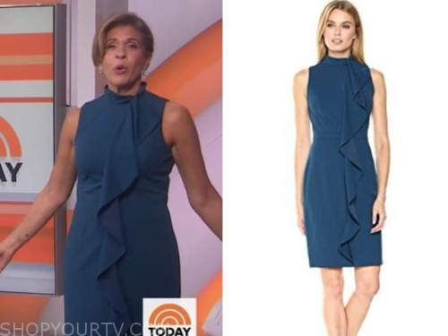 hoda kotb, the today show, teal ruffle dress