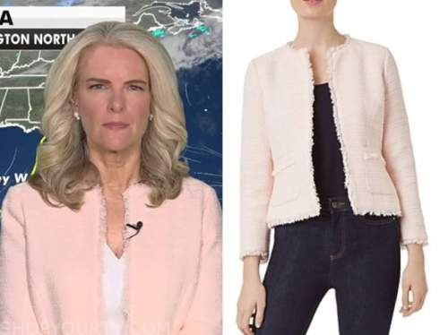 janice dean, fox and friends, pink tweed jacket
