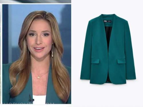 kristin fisher, teal blazer, the daily briefing