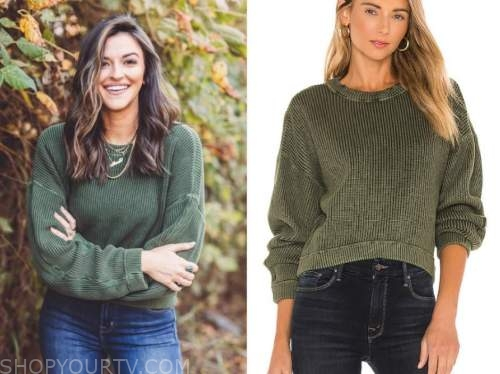 tia booth, green sweater, the bachelor