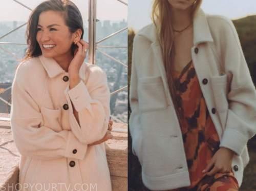 caila quinn, the bachelor, ivory shirt jacket shacket