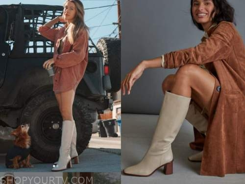 caelynn miller-keyes, the bachelor, beige tall leather boots