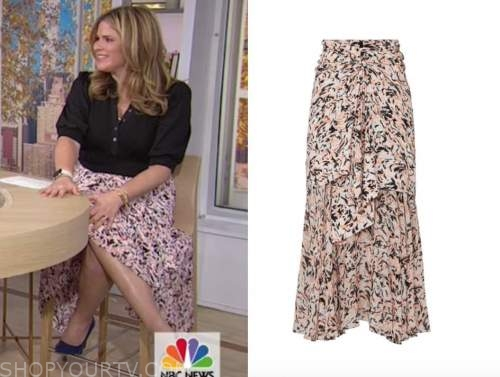 jenna bush hager, the today show, pink floral skirt