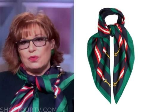 joy behar, green and blue silk scarf, the view