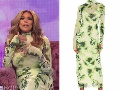wendy williams, the wendy williams show, green tie dye turtleneck dress