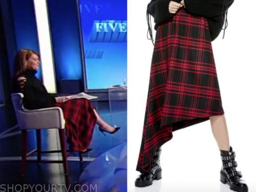 dagen mcdowell, the five, red and black plaid skirt