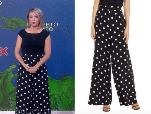 dylan dreyer, the today show, black and white polka dot pants