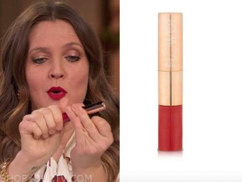 drew barrymore, drew barrymore show, red lipstick