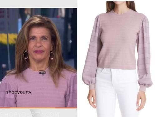 hoda kotb, the today show, purple sweater