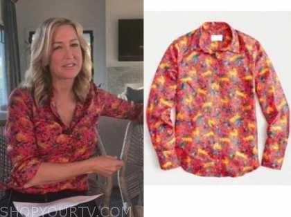 lara spencer, red animal print shirt, good morning america