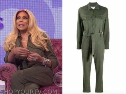 wendy williams, the wendy williams show, green jumpsuit