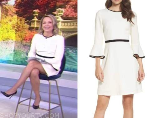dylan dreyer, the today show, white bell sleeve dress