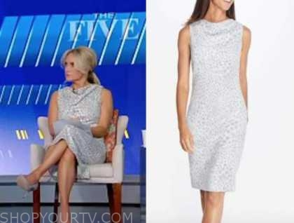 the five, the daily briefing, dana perino, grey leopard dress