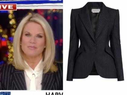 martha maccallum, the five, pinstripe blazer