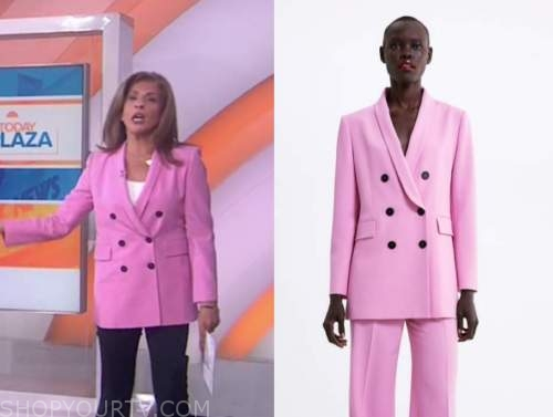 hoda kotb, the today show, pink double breasted blazer