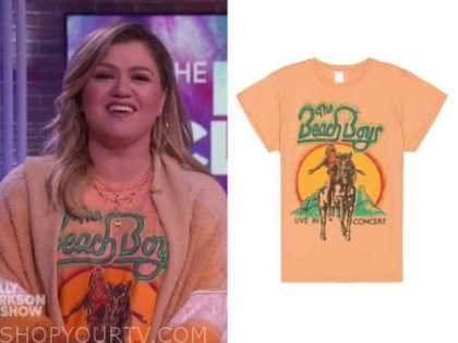 kelly clarkson, the kelly clarkson show, orange beach boys tee