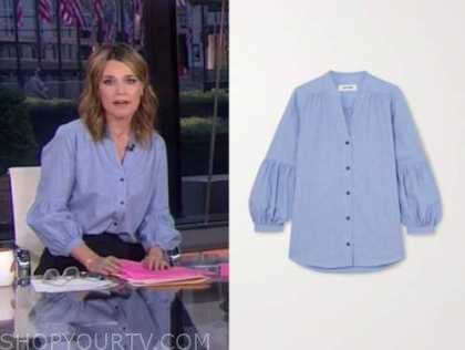 savannah guthrie, the today show, blue blouse